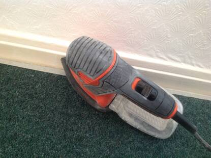 User supplied image of 120W next generation Mouse® sander with storage bag and 6 accessories