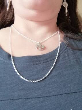 User supplied image of Sterling Silver Belcher Chain (Size 18), Silver wt 6.00 Gms