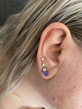 User supplied image of Diamond 9K Y Gold Earring  0.200  Ct.