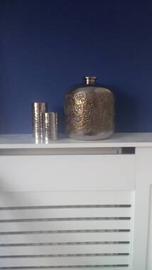 User supplied image of Metallic Brown and Silver Colour Stoneware Ceramic Flower Vase (Size 20 Cm)