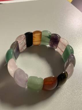 User supplied image of Multi Gemstone Stretchable Bracelet (Size 7) 441.00 Ct.