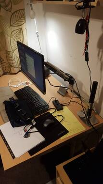 User Supplied Image Of Ergotron LX Desk Mount LCD Arm, Tall Pole