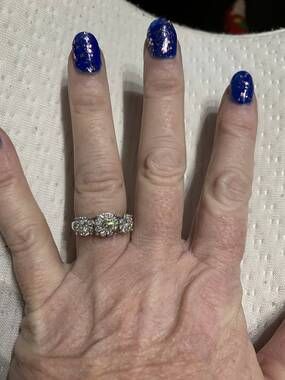 User supplied image of Super Find - 14K White Gold Diamond (I1/G-H) Ring 1.00 Ct.