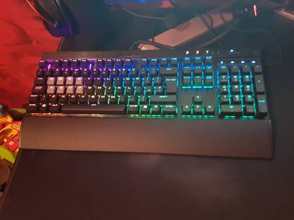 Corsair K70 RGB Rapidfire Mechanical Gaming Keyboard - Cherry MX Speed