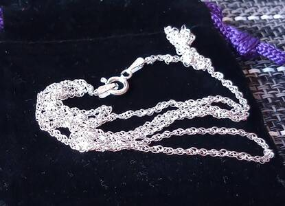 User supplied image of Sterling Silver Prince of Wales Chain (Size 22), Silver wt 3.40 Gms