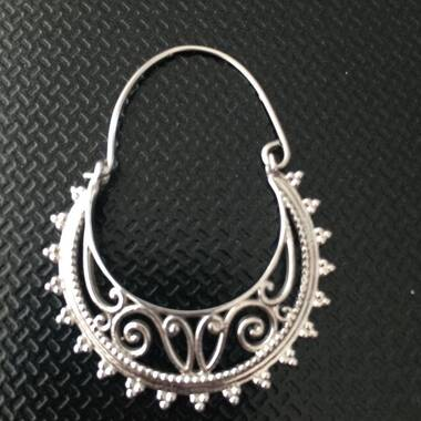 User supplied image of Rhodium Plated Sterling Silver Earrings, Silver wt. 7.79 Gms.