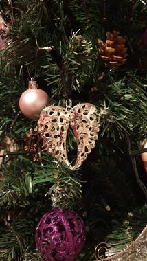 User supplied image of RACHEL GALLEY Angel Wings Baubles in Silver Tone