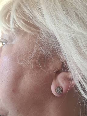 User supplied image of Diamond 14K Gold Overlay Sterling Silver Earring  0.332  Ct.
