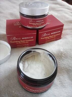 User supplied image of Royal Moroccan: Nourishing Mask Treatment (For Thin and Fine Hair) - 250ml